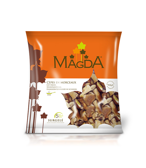 Frozen whole ceps Magda