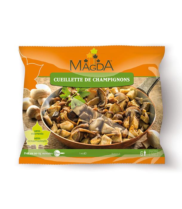 Cueillette de champignons surgelés Magda
