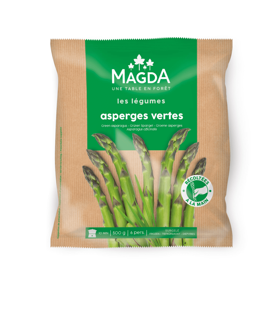 Fresh frozen green bean parcels with vegan tie Magda