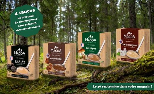 Les sauces aux champignons Magda